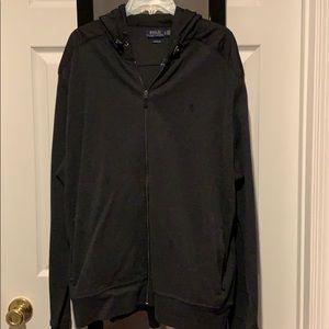 Black Polo zip up sweatshirt